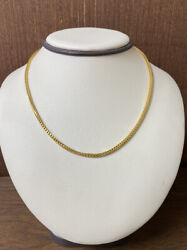 Solid Handmade 22kt 916 Yellow Gold Wheat Necklace Chain - 15.75 Long