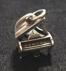 James Avery Grand Piano Charm 3d Charm Sterling Silver Retired