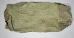 Vintage Ruck Sack Us Army Military Issue Shoulder Green Canvas Duffle Bag