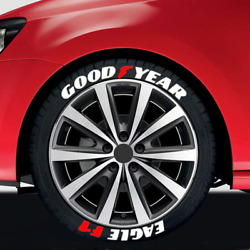 Tire Lettering Goodyear Eagle F1 Sticker 1.06 14-22 4 Sets Decal