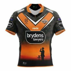 Wests Tigers 2021 Anzac Jersey Sizes Small - 4xl And Kids 10 - 14 Nrl Steeden