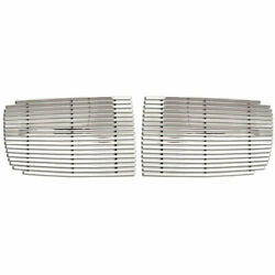 Billet Grille Insert Fits 2002-05 Ram 1500 [2p Chrome Wide Bar Style] Premium Fx
