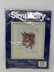 Simplicity Counted Cross Stitch Chestnut and Her Foal Kit New Horses