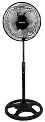 Impress Model Im-714b Mighty Mite 10-inch Oscillating Stand Fan With Metal Blade