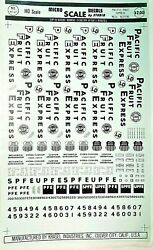 Micro Scale Decals By Studio Ho Scale Pacific Fruit Express Mech. Reefers Rh-17
