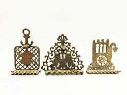 3 X North Africa Morocco Hannukah Menorah Collection 1940s Menora Vintage Old