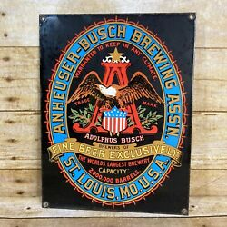 Anheuser Busch Brewing Association Fine Beer Exclusively St Louis Mo Sign
