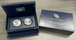 2013 American Silver Eagle West Point 2-coin Proof Silver Eagle Set W/coa
