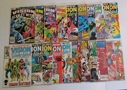 Marvel Vision Scarlet Witch Vintage Comic Book Lot 21 Issues Wandavision Mcu Key