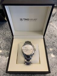 Tag Heuer Link Calibre 16 Chronograph Automatic Menand039s Watch 43mm White Face