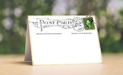 Vintage Style Postcard Tent Style Wedding Place Cards Or Table Cards 122