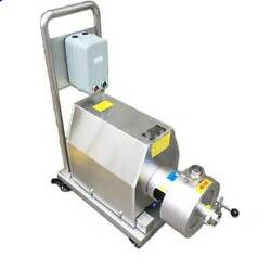 1pc Mobile Emulsion Pump High Shear Emulsifying Pump 7.5kw With Wheels