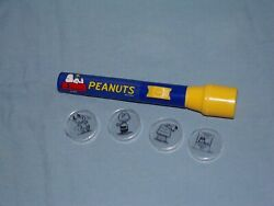 Peanuts Flashlight Projector 4 END CAPS CHARLIE BROWN SNOOPY amp; LUCY WORKS NICE