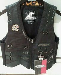 Nwt Speed And Strength 'iron Mistress' Leather Motorcycle Vest
