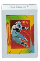 Barry Sanders 1997 Topps Peter Max Gallery Detroit Lions Nfl Card Pm5 Certified