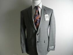 Nwt Jos A Bank 1905 Menand039s Gray Plaid Slim Fit 2pc Suit 40r/w35