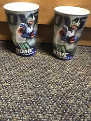 Nfl Dallas Cowboys Stadium Souvenir Cup Printed Signed Jason Witten Welcome Back