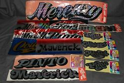 Chroma Graphics 70and039s Vintage Auto Decals Lot Of 15 Ford Mercury Mustang Mach 1