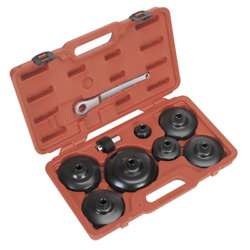 Vs7007 Sealey Oil Filter Cap Wrench Set 9pc - Commercials [engine]
