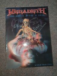 Megadeth Tour Book Autographed Dave Mustaine