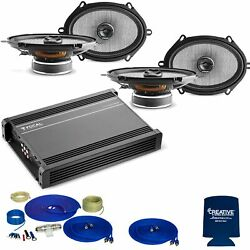 Focal Bundle 570ac Access Series 5x7 6x8 Coaxial Speakers With 4ch Amp And Kit