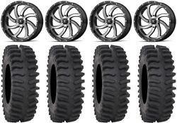Msa Machined Switch 20 Wheels 35 Xt400 Tires Can-am Renegade Outlander