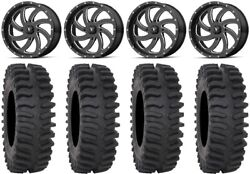 Msa Milled Switch 20 Wheels 35 Xt400 Tires Can-am Renegade Outlander