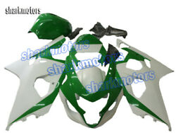 Fairing Injection Fit For Gsxr 600 750 2004-2005 K4 New Abs Plastic White Green