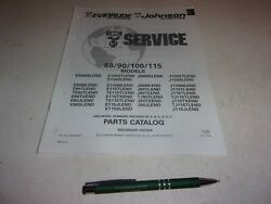 Parts Catalog Johnson Evinrude Outboard 88/90/100/115 See Pic1992 Top300