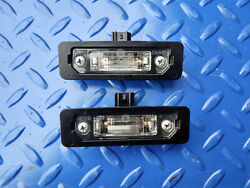 2010-2014 Ford Mustang Gt License Plate Lights Lamp Oem 8t53-13543-aa