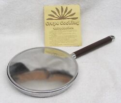 """New Vintage Viking The Crepe Maker 8"""" Stove Top Heavy Crepe Pan Wood Handle Nos"""