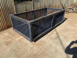 Industrial Cage Box Forklift Oil Field 8' X 4' Expanded Metal Steel Bar Grating