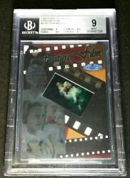 Bgs 9 Pop 3 Peyton Manning Rc Feature Film Rookie 1 Higher 1998 Flair Showcase