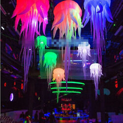 2.5m Hot Sell Glow Inflatable Medusa Inflatable Jellyfish Balloon With Led Light