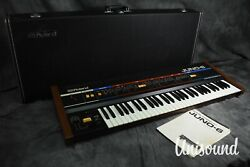 Roland Juno-6 Polyphonic Synthesizer In Very Good Condition [japanese Vintage]