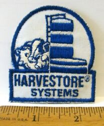 Vintage Ao Smith Harvestore System Shirt Hat Cap Embroidered Patch Farm Silo Cow