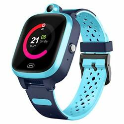 4g Smart Watch For Kids - Smartwatch With Gps Wifi Lbs Tracker Real Time Blue