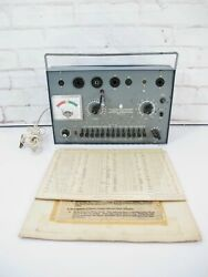 Commercial Trades Institute Tc-20 Vintage Vacuum Tube Tester With Charts