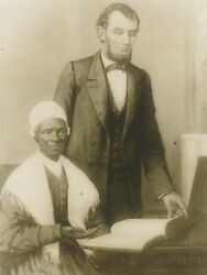 Bible Presented To President Lincoln And Shows To Sojourner Truth,1864 {postcard}