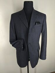 Brooks Brothers Vintage Made In Italy 100 Wool Suit 3 Btn Center Vent. 40 Long