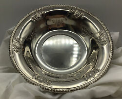 Antique - Round Vegetable Bowl Frank M. Whiting - 650 - Sterling 9 3/4andrdquo