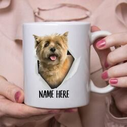 Funny Personalized Cairn Terrier Gold Custom Name Coffee Mug