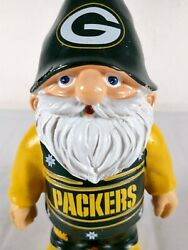"""7"""" Green Bay Packers Garden Gnome Official Nfl Forever Collectibles"""