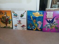 4 Cartoon Network Promotional Posters Knd Duck Dodgers And Teen Titans