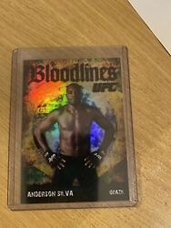 Anderson Silva 2009 Topps Ufc Round 2 Bloodlines Black Rookie Year D /88 Rare