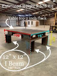Huge Industrial 5ton Welding Table 2andrdquo Thick Top Plate Warehouse 12 X 12 I-beam