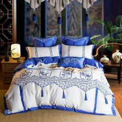 4/7 Pieces Of Luxury Egyptian Bedding And Quilt Covers Sheets And Pillowcases