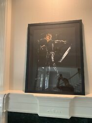Ronnie Wood Artist Paint It Black Hand Signed Mick Jagger Rolling Stones Frame