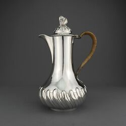 Antique Solid Sterling Silver Hot Water/coffee Pot. Robert Garrard London 1847.