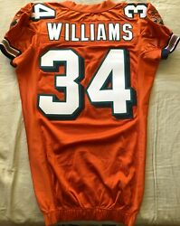 Ricky Williams Miami Dolphins 2005 Authentic Reebok Team Issued Orange 34 Jersey